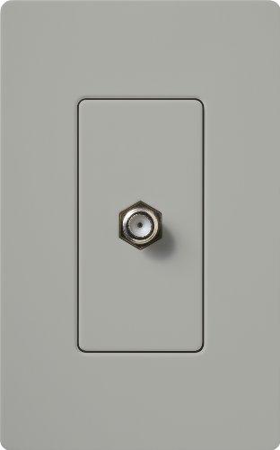 Lutron CA-CJ-GR Claro Cable Jack, Grey