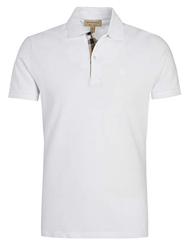 BURBERRY Brit Poloshirt, Weiß Gr. M, weiß