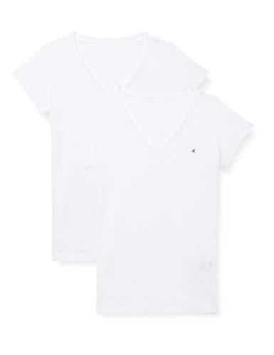 REPLAY W3199 .000.22602 Camiseta, Blanco 010, XS para Mujer