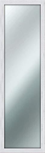 Espejo de pared y estilo Shabby Chic, 40x 125 cm, color blanco
