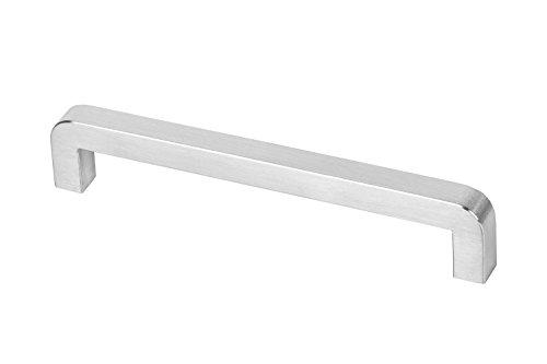 Gedotec Möbelgriff Edelstahl gebürstet Küchengriff Schrank-Türgriff rostfrei - SELINA | 207 x 15 x 192 mm | Stangengriff Profil 15 x 15 mm | 1 Stück - Schubladen-Griff Küche inkl. Befestigungsmaterial