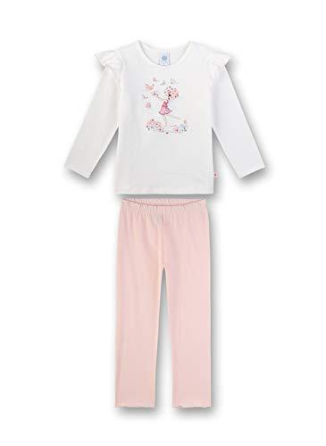 Sanetta Mädchen Pyjama lang Zweiteiliger Schlafanzug, Beige (beige 1427), (Herstellergröße:116)