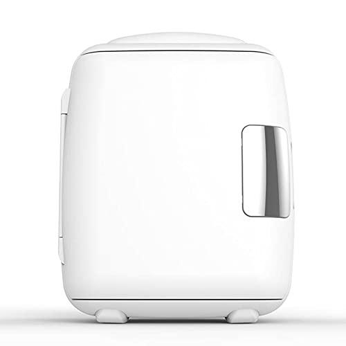 Mini Fridge Single Door Mini Refrigerator, 9L/12 Cans Compact Household Car Refrigerator, Adjustable Temperature Beauty Refrigerator (Color : White, Size : 110V)