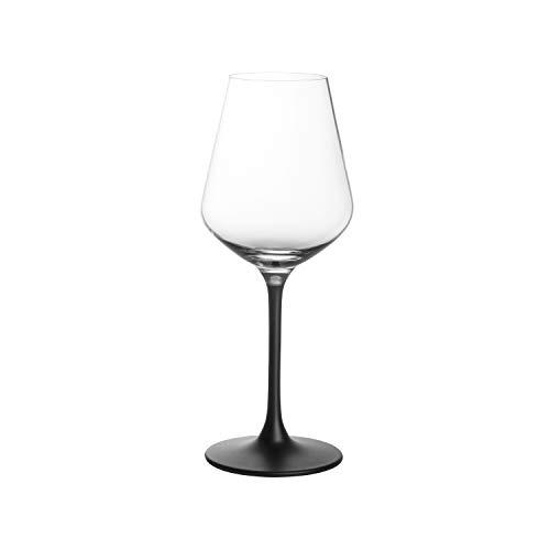 Villeroy & Boch – Manufacture Rock, Rotweinglas-Set, 4-tlg., 380 ml, Kristallglas, Transparent/Schwarz