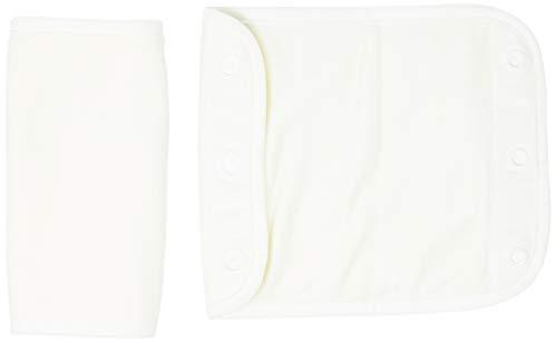 Ergobaby Beiß-Pad Schultergurtschoner Lätzchen für Babytragen, 2 Stück Teething Pad Baumwolle Saugfähig, Natural
