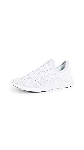APL: Athletic Propulsion Labs Women's Techloom Wave Sneakers, White/Metallic Silver/Ombre, 5 Medium US