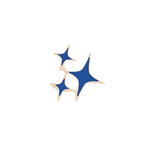 Lindo Broche Metal Esmalte Pin De Dibujos Animados Estrella Luna Solapa Insignias Bolsa De Mezclilla Ropa Decorativa Broches Joyería Niños Amigos Regalos