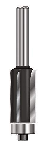 ENT 13502 Bündigfräser HW (HM), Schaft (C) 8 mm, Durchmesser (A) 12,7 mm, B 25,4 mm, Z3, D 32 mm, GL 68 mm, mit Kugellager