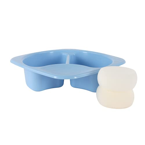 Junior Joy Top & Tail Bowl with 2 Pack Baby Sponge