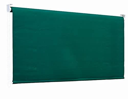 Garden Friend Tenda da sole a Caduta con rullo in alluminio e copertura in poliestere, attacco a soffitto, Altezza 250 cm, Lunghezza 200 cm, colore verde unito,