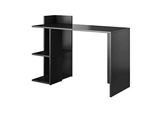 E-com - Mesa de Escritorio Athena - 120 cm - Negro Mate