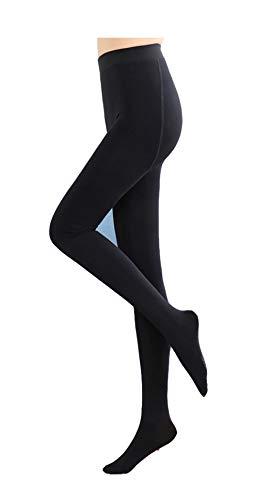 Yulaixuan Mallas térmicas opacas para mujer Mallas con forro polar Lana Pantimedias gruesas Pantalones cálidos Piel interior Leggings