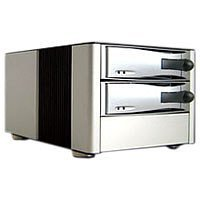 RaidSonic Stardom U7-2-B2 Gehäuse 5¼ 2 Laufwerk USB2.0 für CD-ROM/CD-RW/HDD Silber
