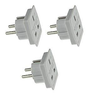Travel Adapter–UK zu EU Euro europäischen Adapter Weiß Stecker 2Pin–Pack von 3[Energieeffizienzklasse A + + +]