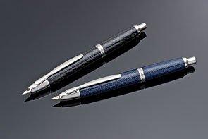 Namiki Vanishing Point Carbon Fountain Pen - Carbon Fiber Blue Medium Nib 60249