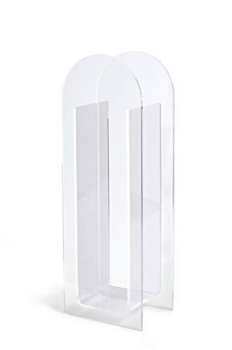 Acrylic Vase,Wedding Centerpieces, Home Decorations,Arch Shape Vase Modern Design (Clear)