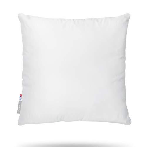 Pal Fabric White Cotton Feel like Microfiber Square Sham Euro Bedding Sofa Couch Decorative Pillow Insert 26