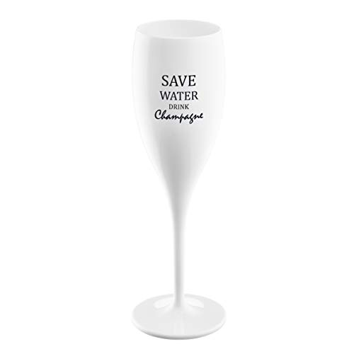 CHEERS NO. 1 SAVE WATER DRINK CHAMPAGNE Superglas 100ml mit Druck