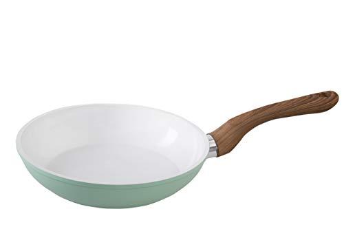 wenco Bratpfanne, Ø 24 cm, Induktionsgeeignet, Aluminium mit Keramikbeschichtung, Professional, Weiß/Schwarz, 539623