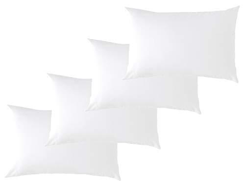 P'tit Basile Eco 4 x Kopfkissenbezüge für Babys, Bio-Baumwolle, 40 x 60 cm, Farbe: Weiß, 100 % Baumwolle, zertifiziert Ökotex und GOTS
