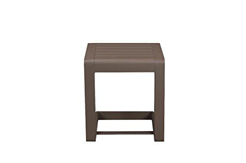 Benzara BM172090 Vibrantly Designed Contemporary Aluminum Side Table One Orange