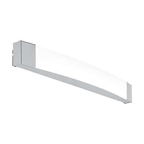 EGLO LED Wandlampe Siderno, 1 flammige Wandleuchte, LED Spiegelleuchte aus Stahl und Kunststoff, Badezimmer Lampe in Chrom, Satiniert, LED Feuchtraumleuchte, IP 44, L 58 cm