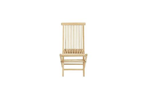 Ploß Outdoor furniture Milford Klappstuhl, Eco Teak Natur, 48 x 60 x 90 cm