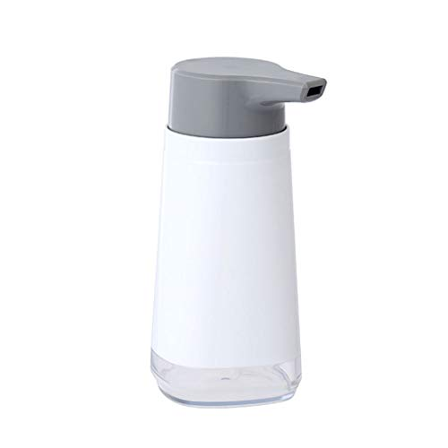 dispensador de jabón baño Botella dispensador de jabón líquido rellenable Loción botella plástica de la bomba bomba de mano de jabón Cocina Hotel restaurante dispensador de la loción ( Color : White )