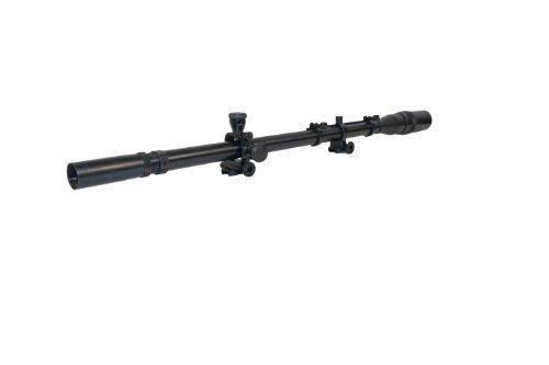 Hi-Lux Optics Malcolm Series 8X USMC Sniper Riflescope with Mounts and Spring, Matte Black