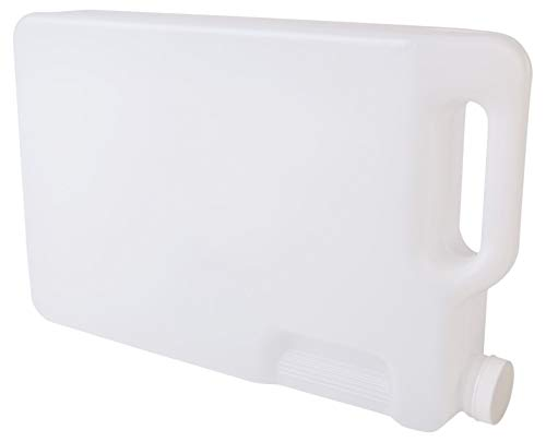 Hudson Exchange - 1001382 5 Liter Hedpak Container with Cap, HDPE, Natural