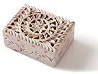 Shalinindia - Handmade Cute Jewelry Box for Girls with Fine Detail of Jaali Lattice Work From India
