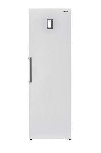 Sharp SJ-S2251E0W-EU Gefrierschrank / A++ / 72 kg / 251 l / Weiß / 7 Gefrierfächer / Elektronische Anzeige zur Temepraturregelung / Anti-Fingerprint-Beschichtung