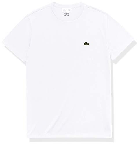 Lacoste TH6709, Camiseta para Hombre, Blanco (Blanc), L (Talla del fabricante: 5)