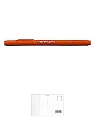 トンボ鉛筆 水性サインペン プレイカラー2 ハニーオレンジ WS-TP48 + 画材屋ドットコム ポストカードA