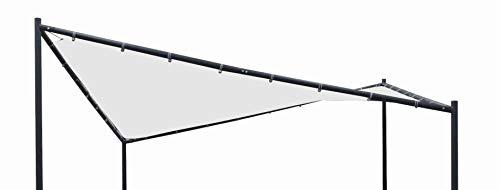 DEGAMO Ersatzdach für Walmdachpavillon Orlando 4-eckig 350x350cm, Polyester mit PVC Beschichtung wasserdicht, weiß