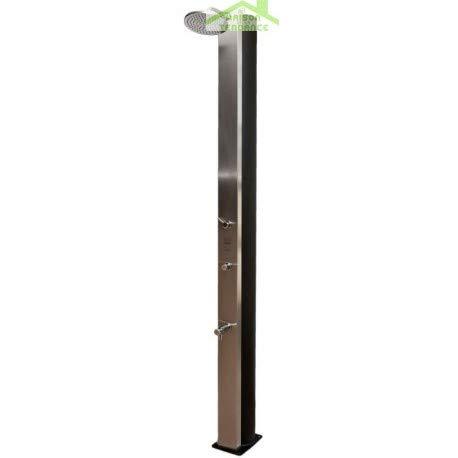 CRM - Ducha de Piscina Solar pulsada, Ducha Exterior 40 L con Enjuague pies, Colores a Elegir, Beige