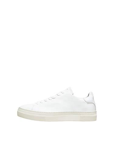 SELECTED HOMME Male Sneakers Kompakte Leder 44White