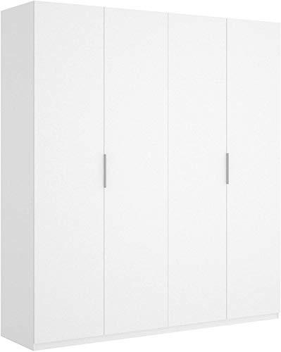Mobelcenter - Armario 4 Puertas Blanco - Armario Matrimonio 204 cm de Altura - Acabado Color Blanco Brillo - Medidas: Ancho: 180 cm x Fondo: 52 cm x Alto: 204 cm - (1051)