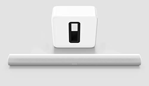 Sonos Arc Set | Soundbar + Sub, weiß – Elegante Premium Soundbar für mitreißenden Kino Sound – Mit Dolby Atmos, Apple AirPlay2, Sprachsteuerung - inkl. Sonos Sub