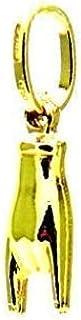 Ciondolo Oro Giallo 18kt (750) Pendente Mano Manina Corna Cornette Charms Uomo Donna Bambini