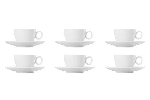 Juego de café para 6 personas, 12 piezas, Loft by Rosenthal, color blanco