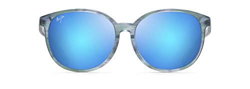 Maui Jim Water Lily - Gafas de sol para mujer, diseño de ojo de gato, Azul (Aguamarina/Azul Hawaii Polarizado), Medium