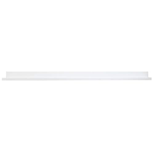 "InPlace Shelving 9602034E Floating Shelf with Invisible Brackets, 60"", White"