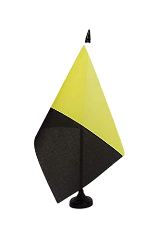AZ FLAG Bandera de Mesa del ANARCOCAPITALISMO 21x14cm - BANDERINA de DESPACHO ANARCOLIBERALISMO - ANARQUISMO LIBERTARIO 14 x 21 cm
