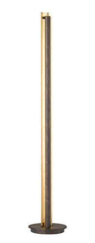 Exklusive LED Stehleuchte in Antik Braun/Messing gefärbt 36 Watt Höhe 143 cm - edle Designerlampe