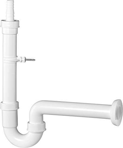 Cornat Geräte-Geruchsverschluss - 1 1/2 Zoll x 40 mm - Mit Tülle & Wandhalterung - Hergestellt aus robustem Kunststoff - Made in Germany Qualität / Gerätesiphon / T355004