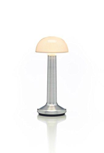 Imagilights Moments Collection Aluminium Opal Bowl LED lampe de table, 24 couleurs avec changement de couleur, modes bougie, hauteur d'environ 15 cm, diamètre d'environ 8,8 cm, sans fil, avec batterie, y compris chargeur et télécommande