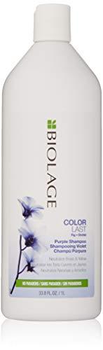BIOLAGE ColorLast Purple Shampoo | Purple Shampoo For Blondes | Neutralizes Brassy & Yellow Hair Color | Paraben-Free Shampoo | 1 litre