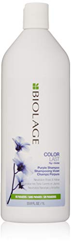 BIOLAGE ColorLast Purple Shampoo | Purple Shampoo For Blondes | Neutralizes Brassy & Yellow Hair Color | Paraben-Free Shampoo | 1 litre