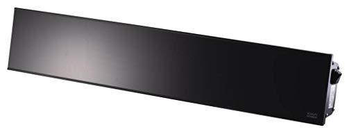 Heizstrahler RELAX GLASS 2200 Watt mit Fernbedienung, [Gehäusefarbe]:Schwarz - Schwarzes Gehäuse